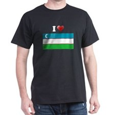 I love Uzbekistan Flag T-Shirt