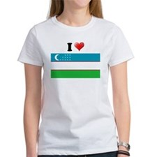 I love Uzbekistan Flag Tee