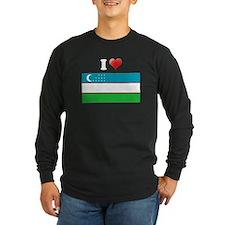 I love Uzbekistan Flag T