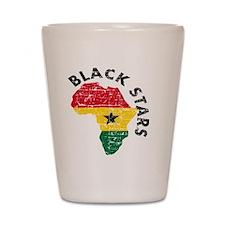 african soccer designs Shot Glass