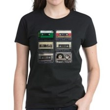 cassettes sqaure Tee