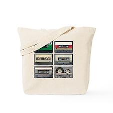 cassettes sqaure Tote Bag