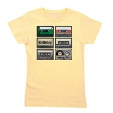 cassettes sqaure Girl's Tee