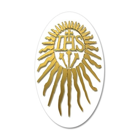 Jesuit IHS Monogram_Light 35x21 Oval Wall Decal