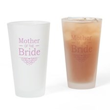 Mother of the Bride pink Drinking Glass