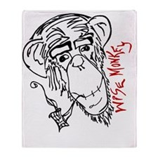 wise monkey3 Throw Blanket