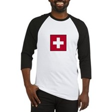 Swiss Flag - Switzerland Baseball Jersey