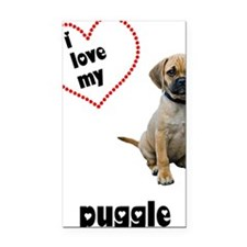 FIN-puggle-love-CROP Rectangle Car Magnet