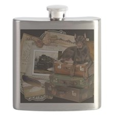 Traveling_Doberman_Rocky Flask