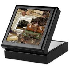 Traveling_Doberman_Rocky Keepsake Box