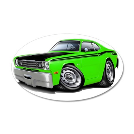 1970-74 Duster 340 Lime-Blac 35x21 Oval Wall Decal
