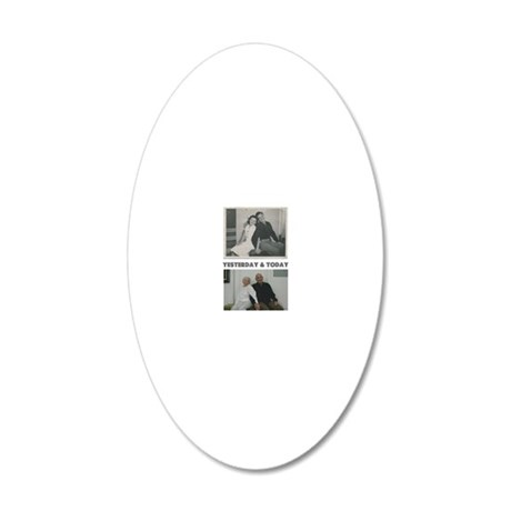 Yesterday and Today 20x12 Oval Wall Decal
