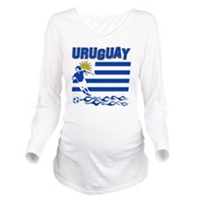 uruguay1 Long Sleeve Maternity T-Shirt