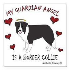 "BorderCollie Square Car Magnet 3"" x 3"""
