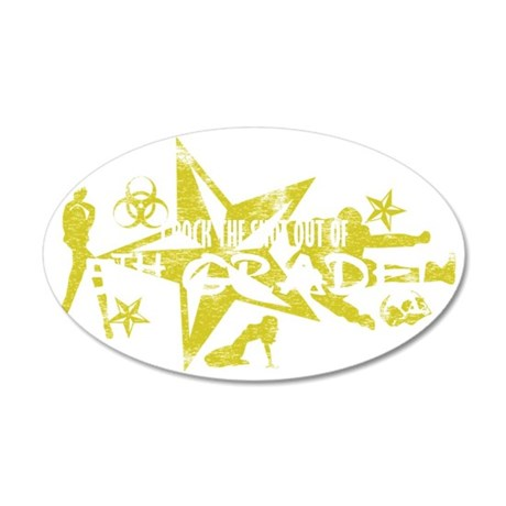 5TH GRADE WHT 35x21 Oval Wall Decal