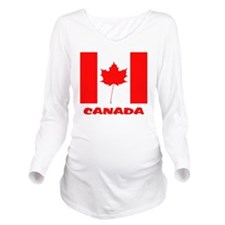 Canada Long Sleeve Maternity T-Shirt