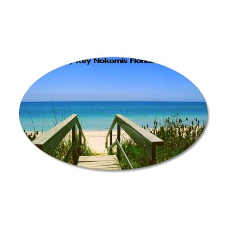 Casey Key11.5x9 35x21 Oval Wall Decal