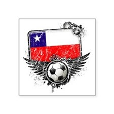 "Soccer fan Chile Square Sticker 3"" x 3"""