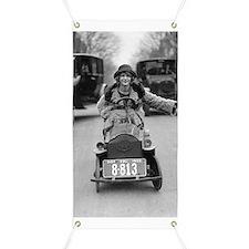 Flapper Driving Pedal Car Banner
