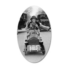 Flapper Driving Pedal Car Wall Decal