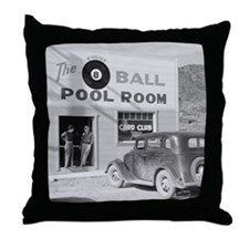 The Eight Ball Pool Room Throw Pillow