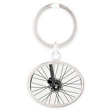 bikewheel Oval Keychain