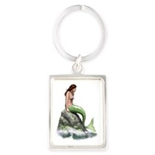 pensive mermaid Portrait Keychain