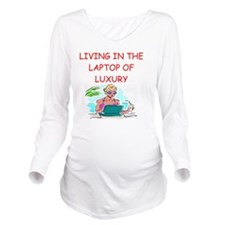LAPTOP2 Long Sleeve Maternity T-Shirt