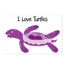 2-turk_turtle_purple Postcards (Package of 8)