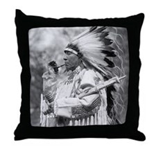Indian Chief Whirlwind Soldier Throw Pillow