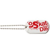 go skateboarding every day stamp dark Dog Tags
