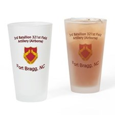 3rd Bn 321st FA Drinking Glass