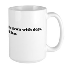 dog with fleas20x6 Mug
