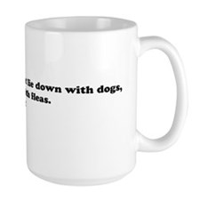 dog with fleas35x9 Mug