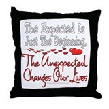 Unexpected Heart Throw Pillow