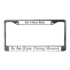 Epic Flying Mount License Plate Frame