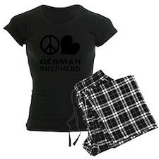 FIN-peace-love-german-shephe Pajamas