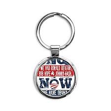 Obama, No Hope, No Cash (large) Round Keychain