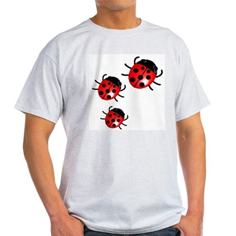 Lady Bugs Ash Grey T-Shirt