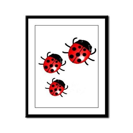 Lady Bugs Framed Panel Print