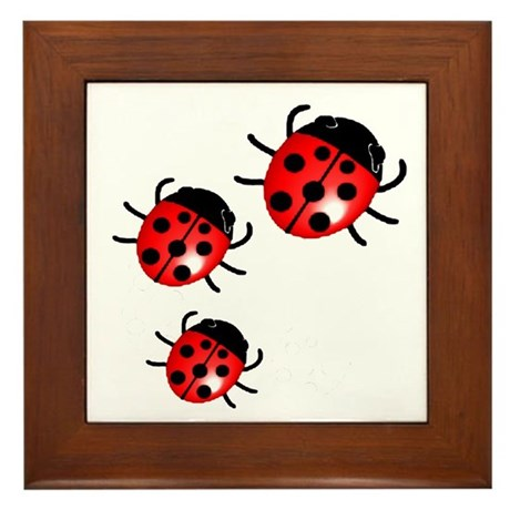 Lady Bugs Framed Tile