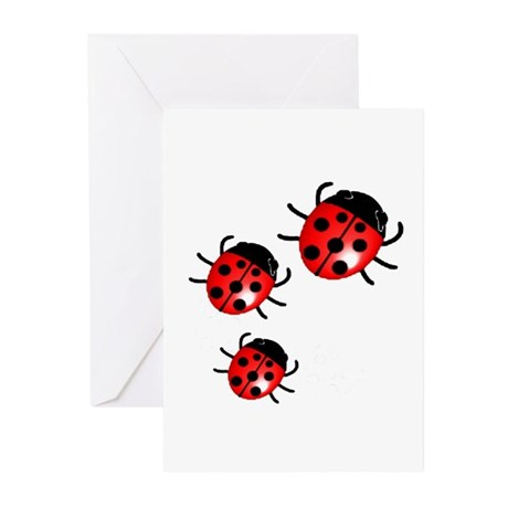 Lady Bugs Greeting Cards (Pk of 10)