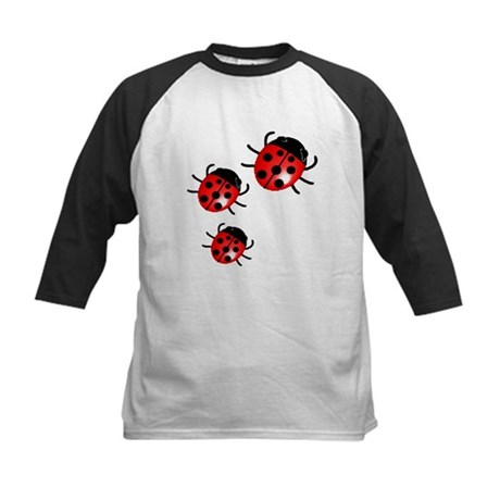 Lady Bugs Kids Baseball Jersey