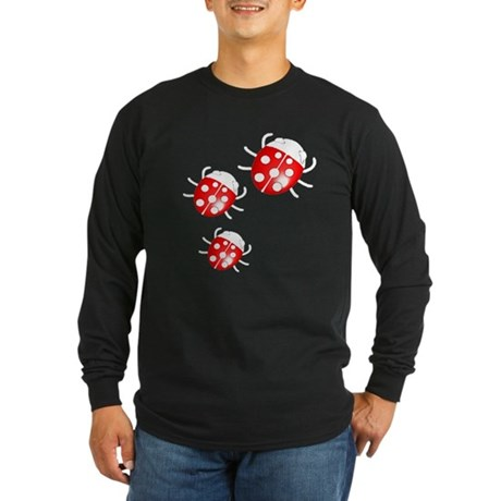Lady Bugs Long Sleeve Dark T-Shirt