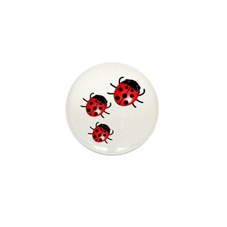 Lady Bugs Mini Button