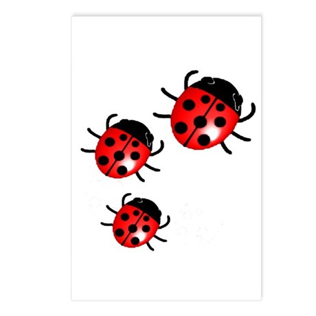 Lady Bugs Postcards (Package of 8)