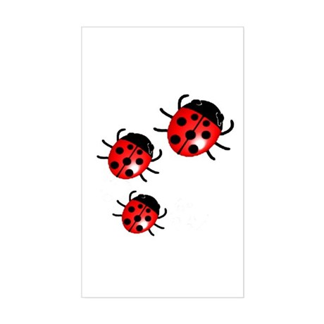 Lady Bugs Rectangle Sticker