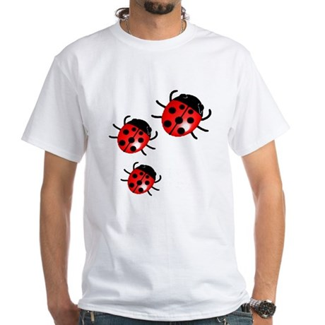 Lady Bugs White T-Shirt