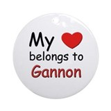 My heart belongs to gannon Ornament (Round)