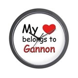My heart belongs to gannon Wall Clock